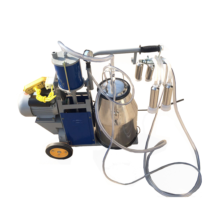 Farm using single and double buckets low price milking machine in india