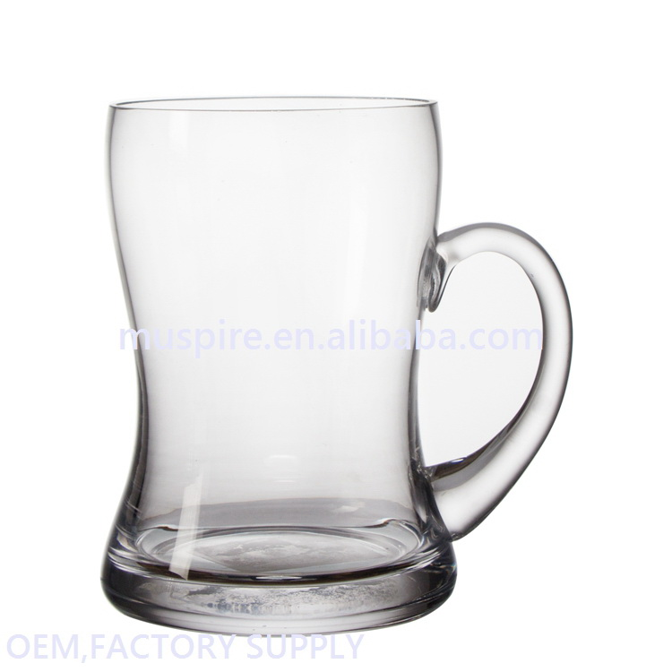 Cheap price custom fast delivery double wall upside down beer glass