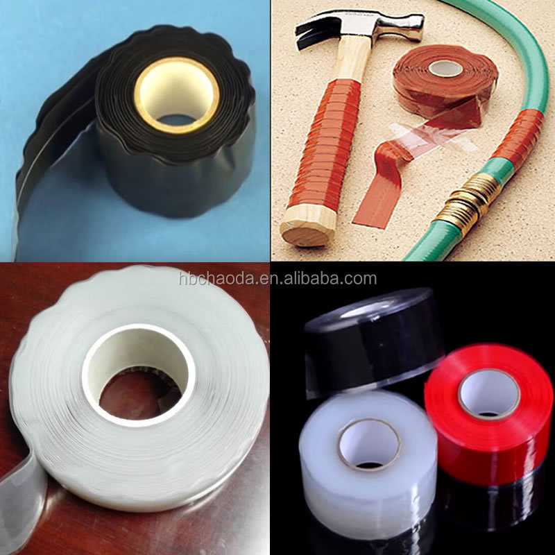 Self fusing silicone rubber tape for motor lead insulation