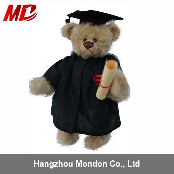 2015 billy bear graduation with Cap and certificate