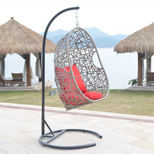 Comfortable Cheap poly hanging egg chair swing