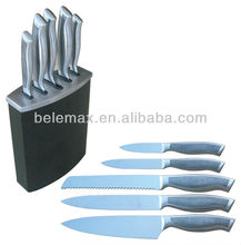 5Pcs Hollow Knives Set with Block