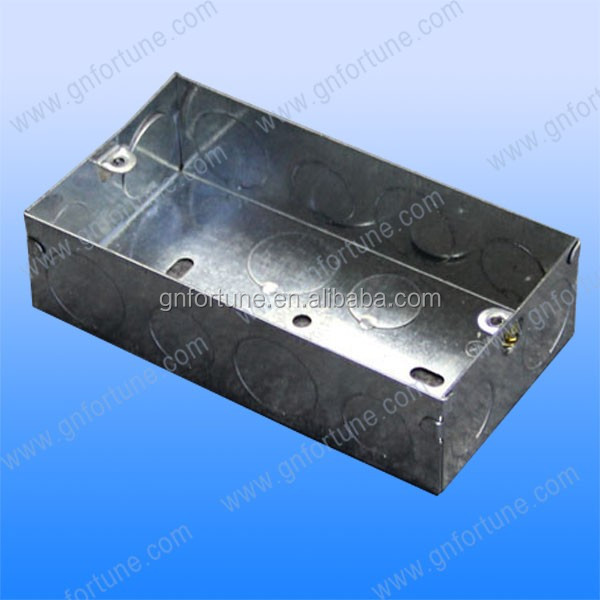 Rectangular galvanized steel switch electrical box extension ring box