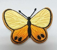 Custom China factory cheap butterfly appliqued embroidered patch