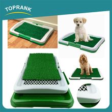 Hot selling easy to clean pet training dog grass mat toilet puppy potty pad tray
