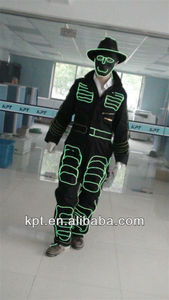 Stage performance light suits costume clothes apparel high brightness flat el wire