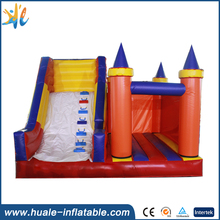 Customized cheap inflatable bouncy castle with slide for sale, bouncy castle for kids