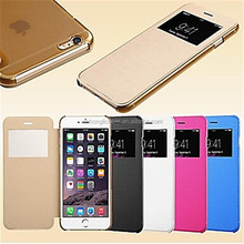 Smart View Screen Touch PU Leather Case for iPhone5/5S