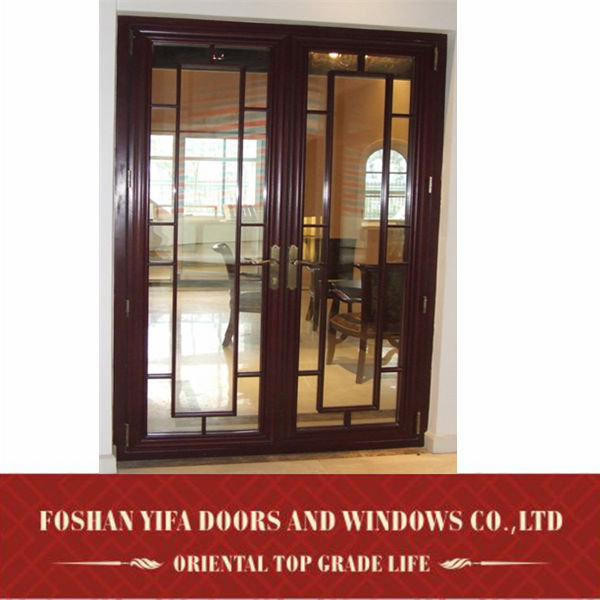 High quality modern interior residential aluminum for Entrance double doors residential