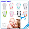 Fashion jewelry necklace,silicone teething pendant and necklaces