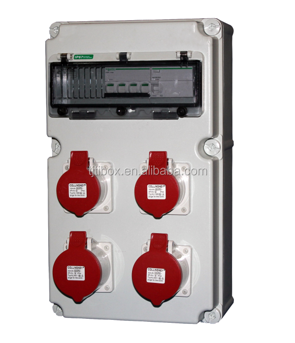 Plastic Distribution Boxes Industrial socket box Industrial plug&socket IP65 Compact power box