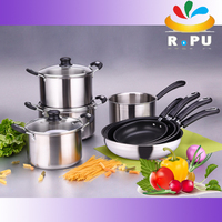 2016 new products wholesale pots and pans zebra cookware set/ stainless steel cooking pot from yiwu