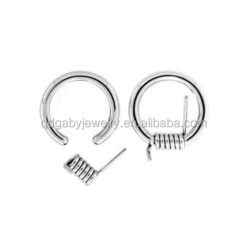 Barbed Wire CBR's - Captive Bead Rings CBR 316L surgical steel eyebrow piercing ring Body Piercing Jewelry