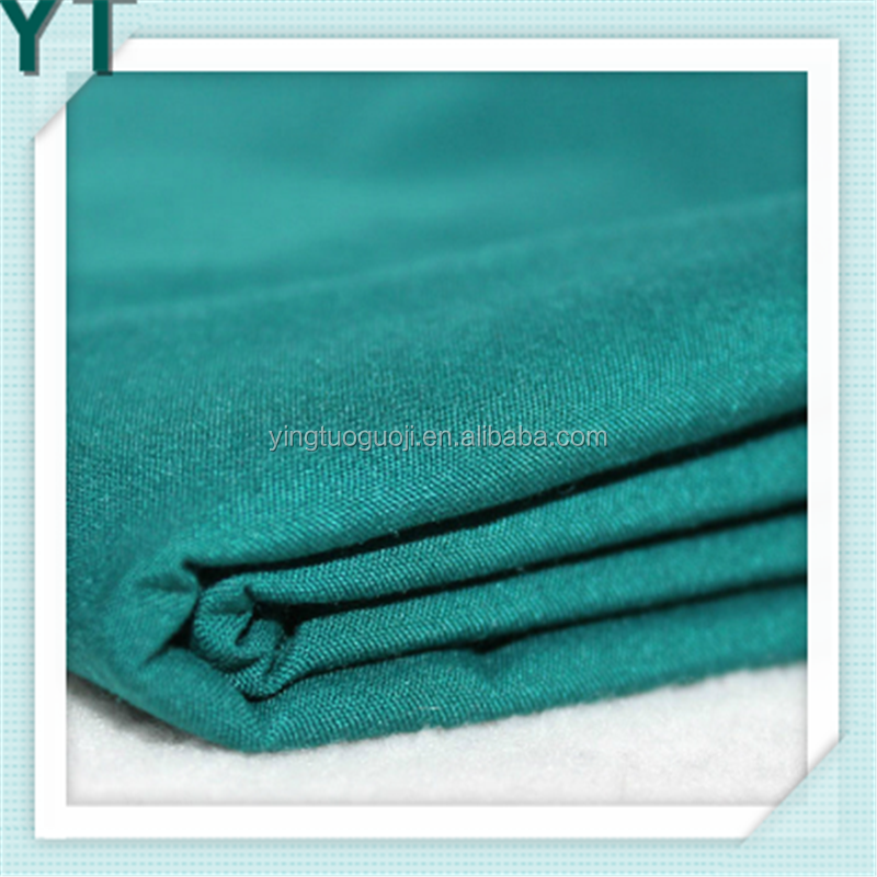 Blended Textile Plain Style Solid Color 90/10 Polyester Cotton Fabric