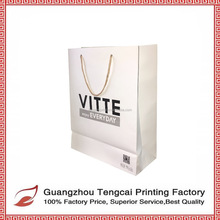 Manufacture Wholesale Cheap Hot Sale Custom Advertising Promotion Luxury Garment Paper Shopping Bag With Cotton Handle