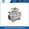 "2"" Stainless Steel 316 3 PC Full Port with MTG Pad Ball Valve"