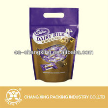 Frosted finished Plastic zip lock packing bags for coffee