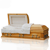 JS-A067 Chinese produce solid wooden casket funeral casket and urn