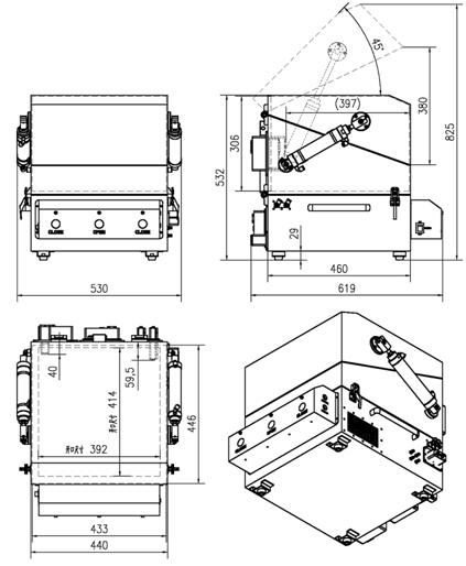double layer pneumatic rf shield box  cabinet  enclosure