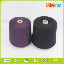 Wholesale hollow cotton polyester blended yarn