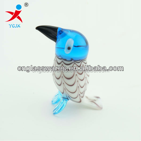 hand blown glass animal bird for decoration