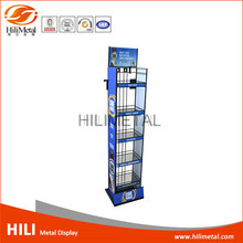 Wholesale liquor prices metal wire floor stand display rack wine beer beverage drink shelf