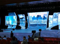 ShenZhen 2015 new power saving indoor curved led stage video background/The studio tv led screen