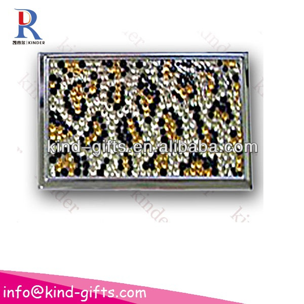 bling bling rhinestone business card holder with customized logo