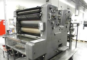 2-color offset printing press Heidelberg SOR-S-Z