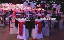 Spandex Chair Covers with satin sashes