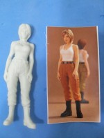 Female soldier Resin model kit 3D figurine