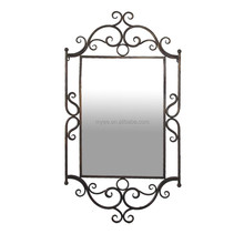 Beautiful and clear full length with antique wall mirror