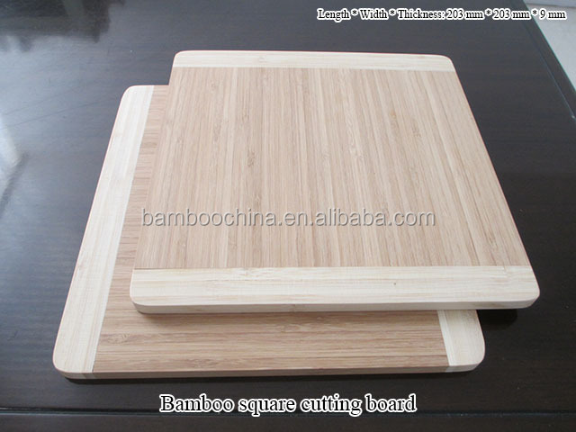 Custom rectangle bamboo cutting boards