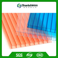 Construction Polycarbonate Panel Lexan Twin Wall Hollow Polycarbonate Sheet Price