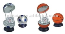 Basketball, Football Desk Light with Clock
