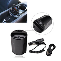 3-Three coils Car QI wireless charger cup special using in the car cup holder qi charger pad transmitter