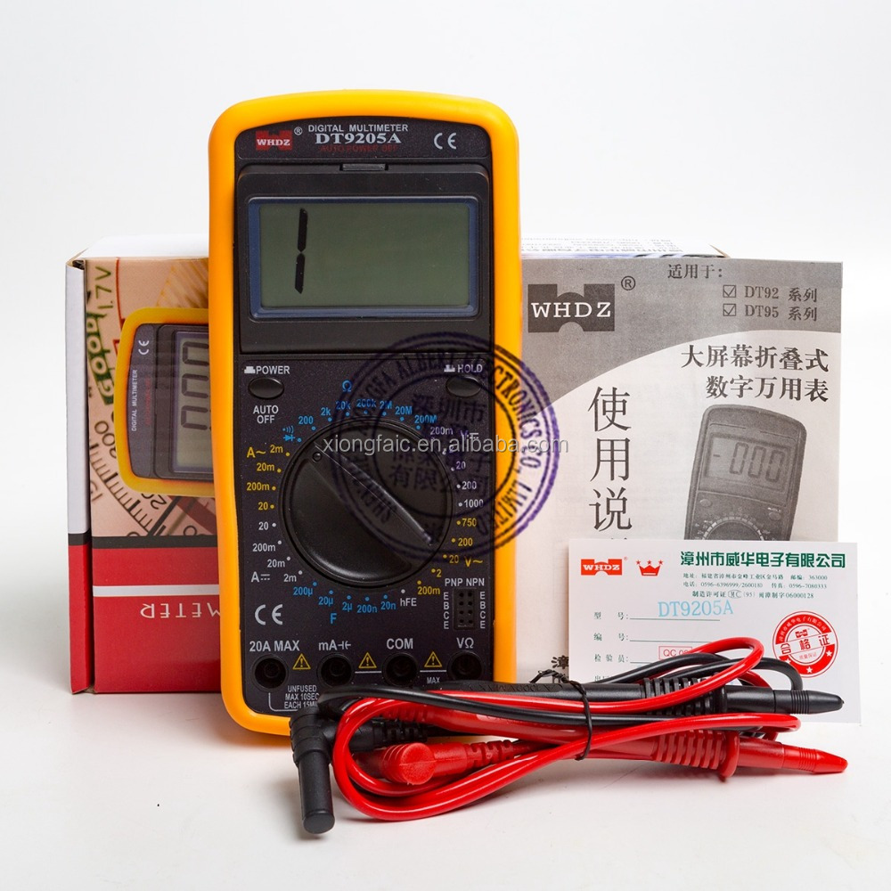 Handheld LCD Digital Multimeter DT9205A