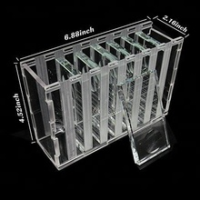 Eyelash Extension Organizer Box With 7 Pieces Crystal Glass