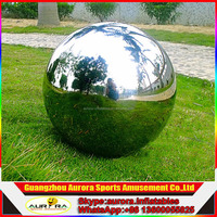 Guangzhou custom made giant inflatable mirror ball balloon/silver ball for promotion