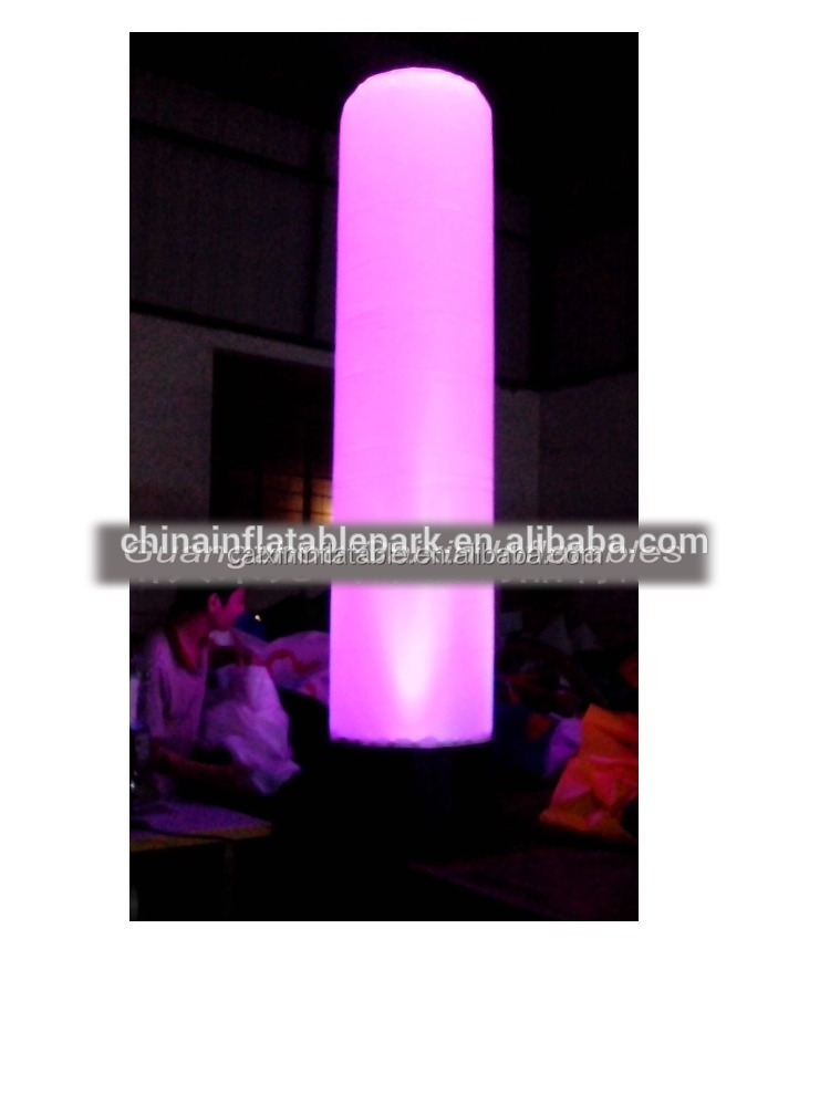 party concert LED inflatable advertising column cylinder for decorating, inflatable column cylinder with LED lights