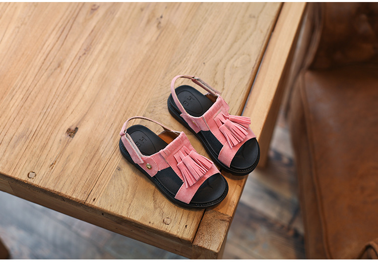 Children's sandals 2017 new summer 7-12 years old princess shoes big children's baby beach shoes