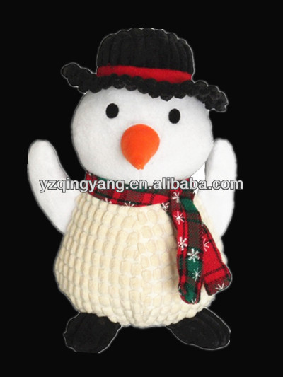 Hot sale new arrival christmas toy cute and fashion stuffed plush snowman doll
