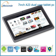 7inch Allwinner A23 dual core 1.2GHz 512MB/4GB second hand tablet pc