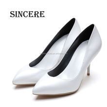Polished Pearl Sheep Leather Women Office Dress Shoe