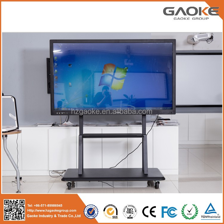 "Gaoke 65"" 75"" LED Touch Screen Monitor 10 Users Multi Touch Infrared Interactive Whiteboard Smart Board for School"