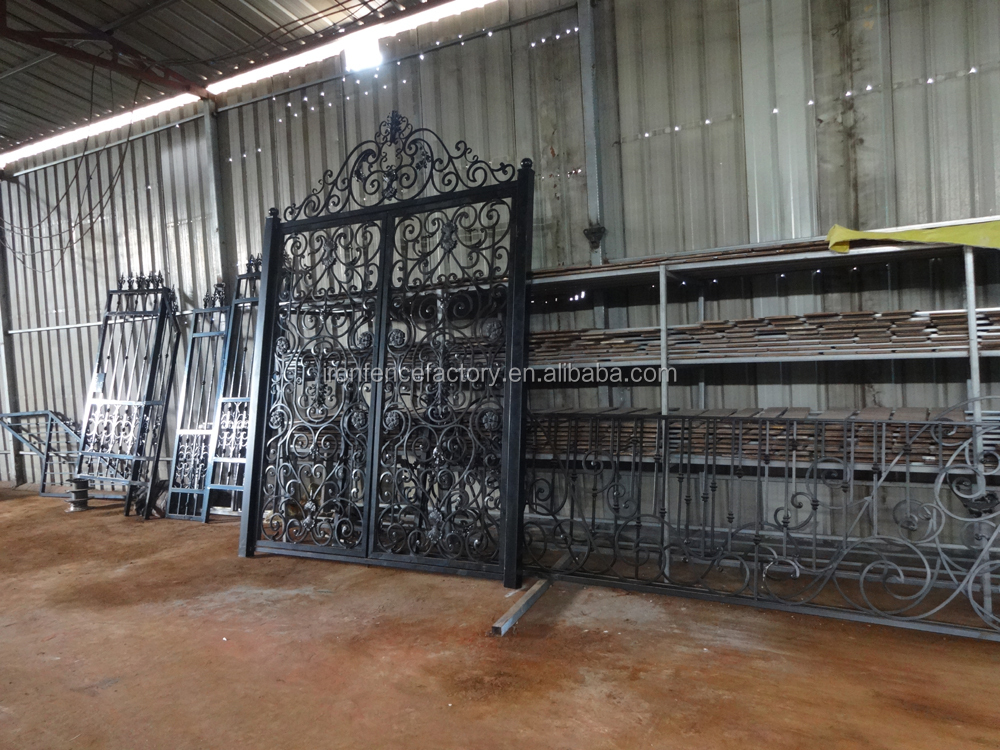 Factory price house main iron gate design residential