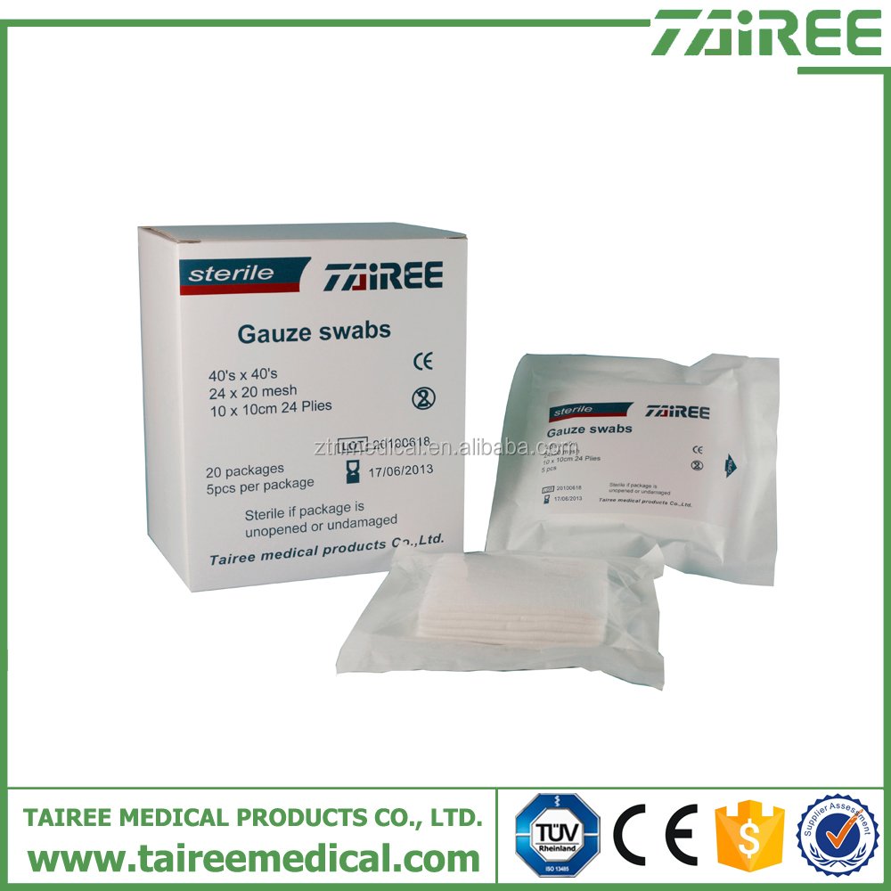 Sterile or Nonsterile 2x2 3x3 4x4 compress gauze