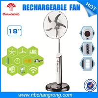 "Portable rechargeable floor fan series 18"" stand fan with emergency led lights"