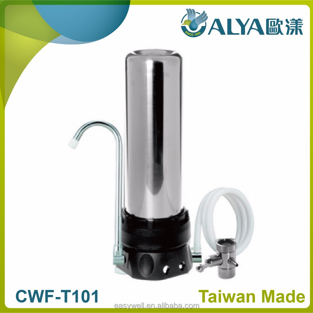 Stainless Steel Single Stage Bench Counter Top Tap Water Filter