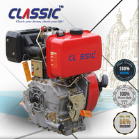 CLASSIC CHINA 178f Water Pump Spare Parts Engine Diesel 5 hp, Yellow Color Air-cooled Electric Diesel Engine 178fs